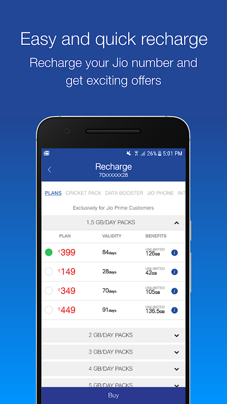 Android MyJio Screen 4