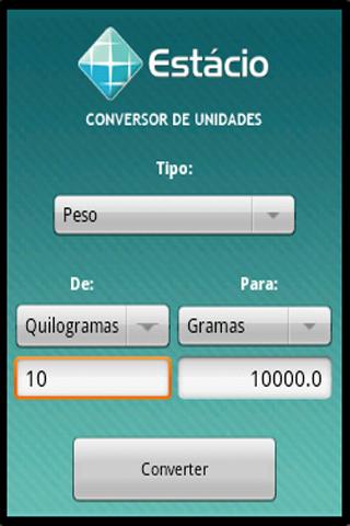 Android Conversor de Unidades Screen 4