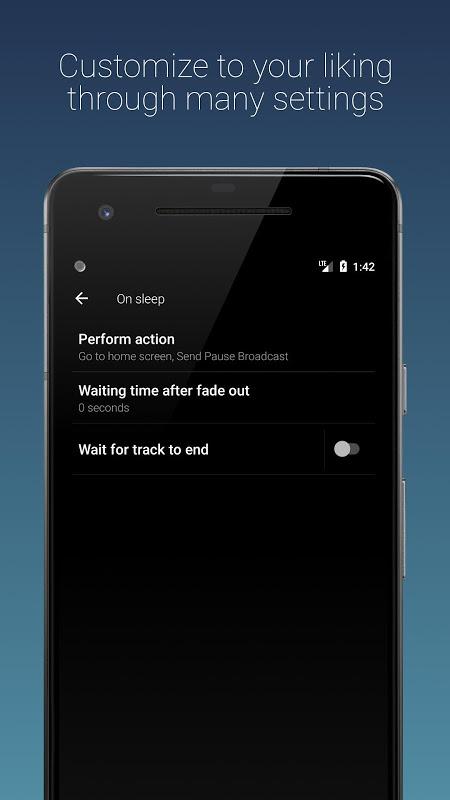 Sleep Timer (Turn music off) 2.5.4 Screen 3
