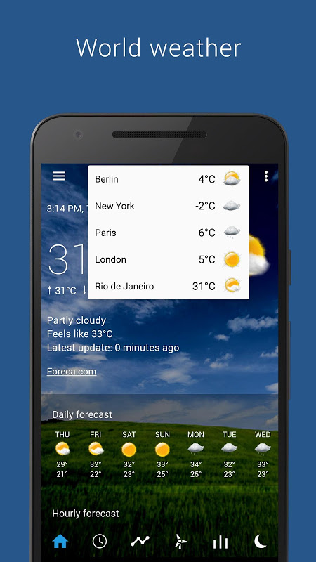 Android Transparent clock weather Pro Screen 11