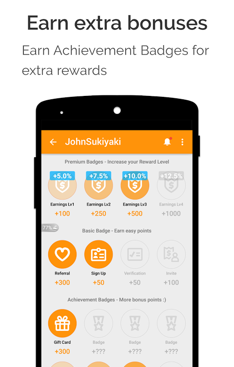 Android cashKarma Rewards & Gift Cards Screen 2