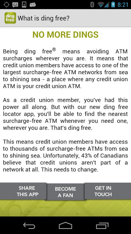 ding free ATM Locator 2.1.7 Screen 3
