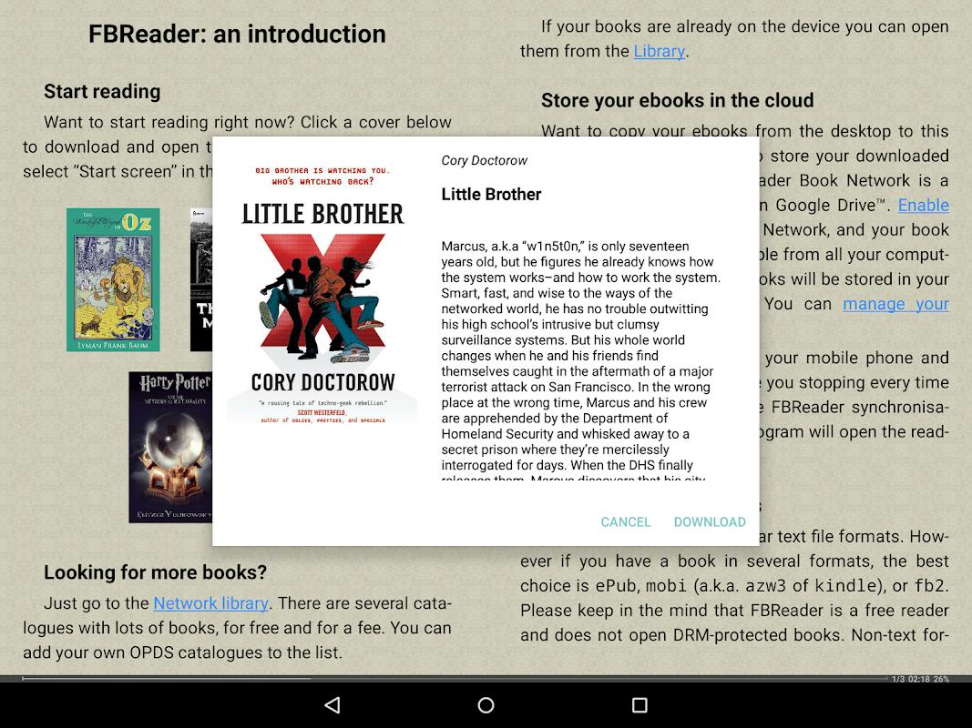 FBReader: Favorite Book Reader 2.9.2 Screen 16