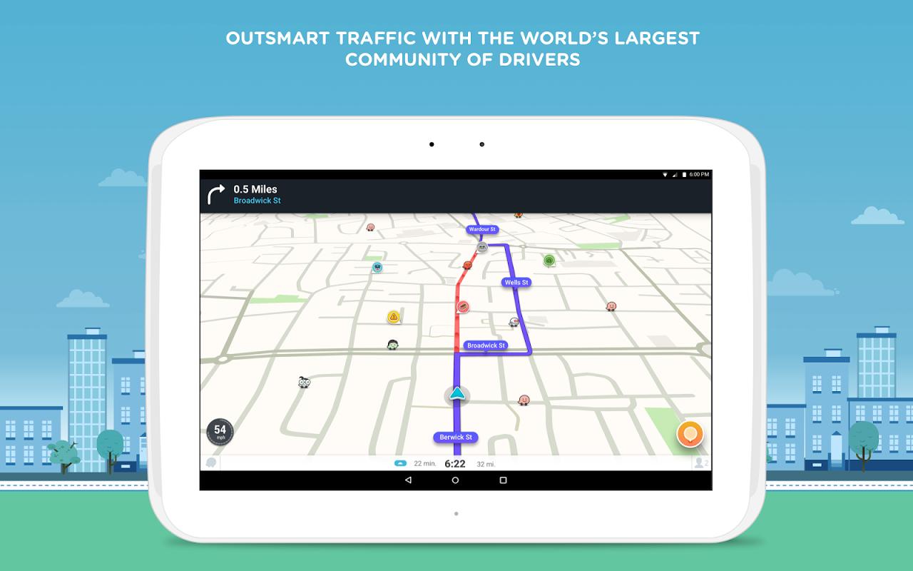 Waze - Sat Nav, Maps & Traffic 4.22.1.901 Screen 5