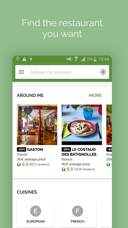 Android TheFork - Restaurants booking Screen 12