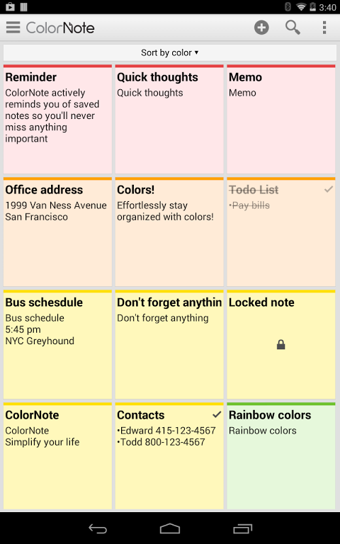 colornote 3.9.17 apk