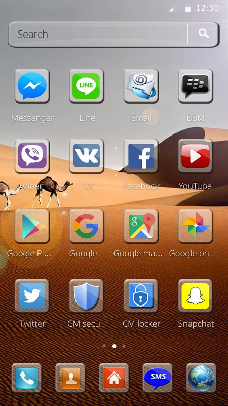Android The Desert Theme Screen 1