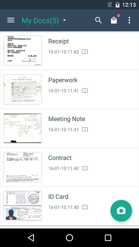 Android CamScanner -Phone PDF Creator Screen 16