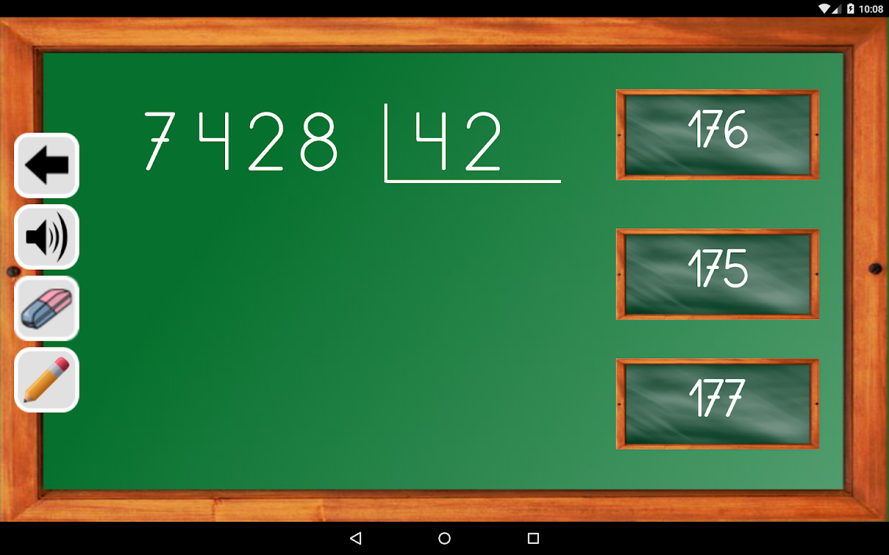 Android Maths Trainer Screen 23