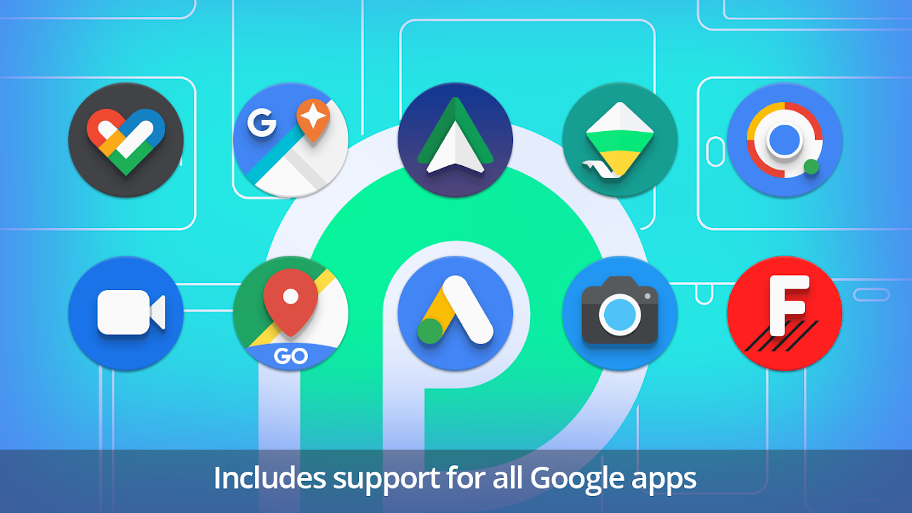 PieCons - Ultimate Android 9 0 Pie-inspired Icons 1 5 APK
