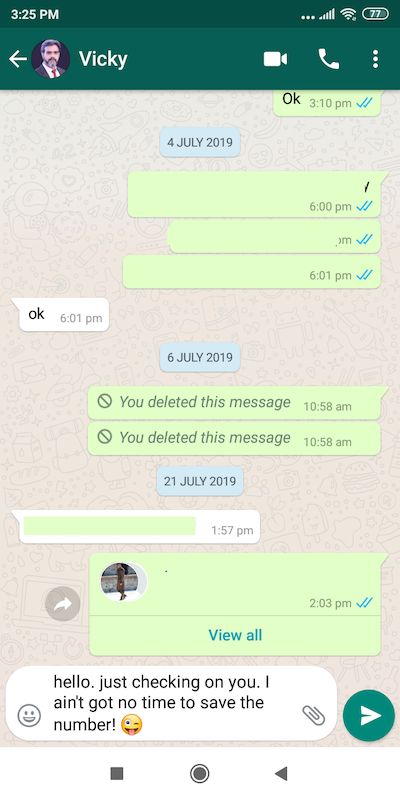 WhatsApp Direct Message 1.0.3 Screen 4
