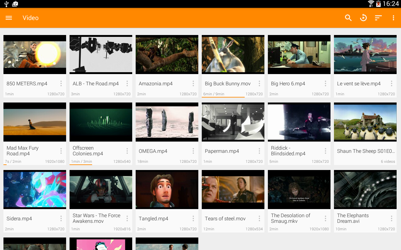 Android VLC for Android Screen 1