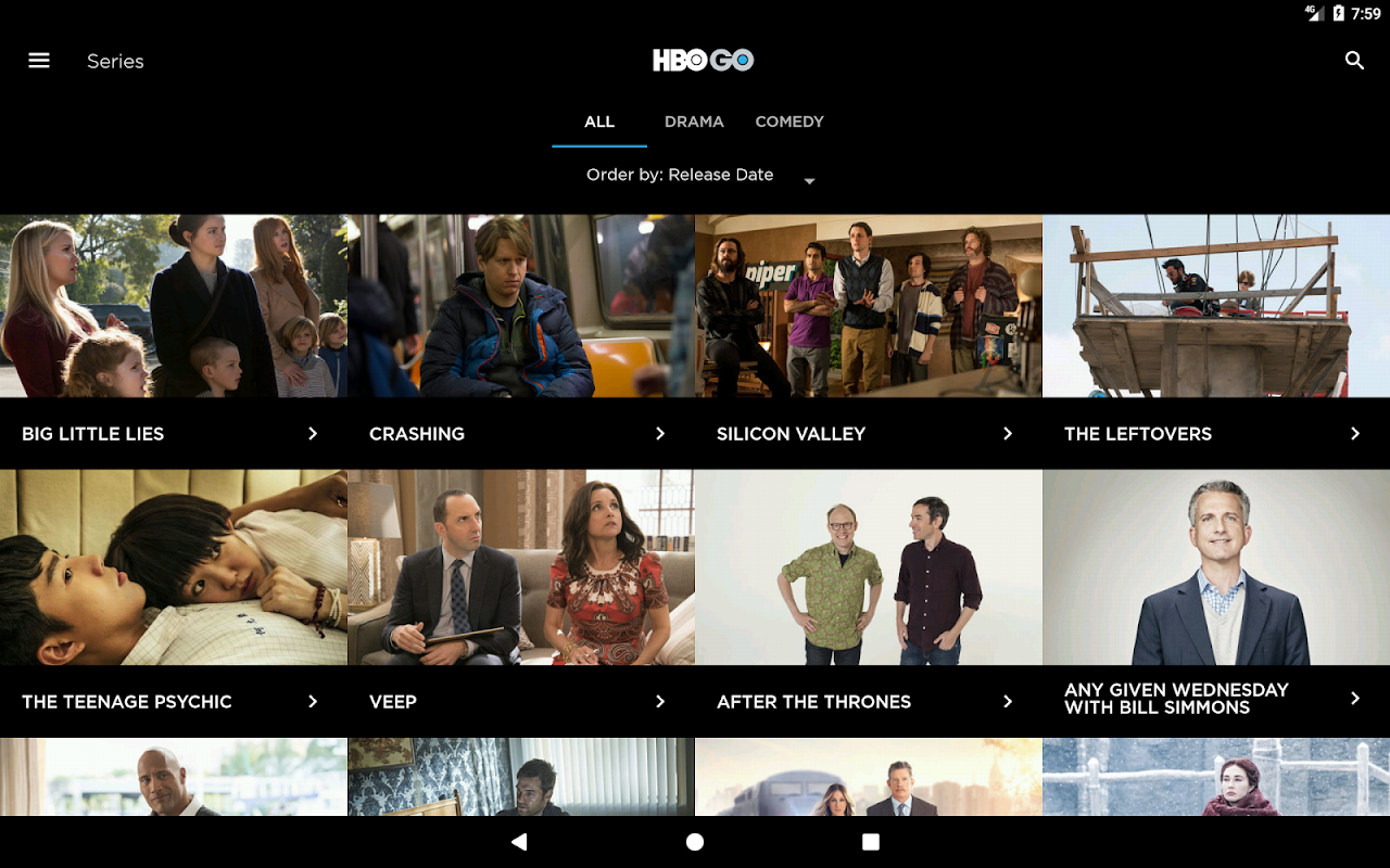 HBO GO Singapore 5.0.9 Screen 4