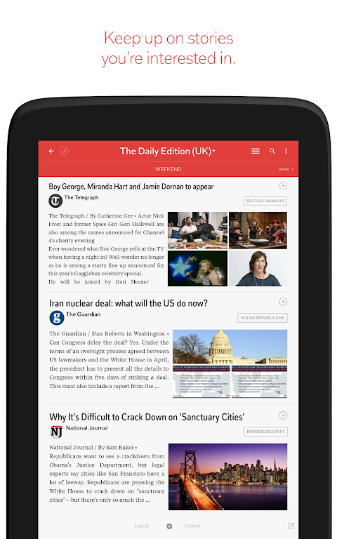 Android Flipboard: News For Any Topic Screen 9