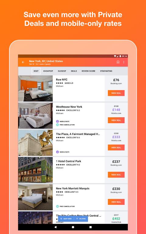 KAYAK flights, hotels & cars 73.1 Screen 7