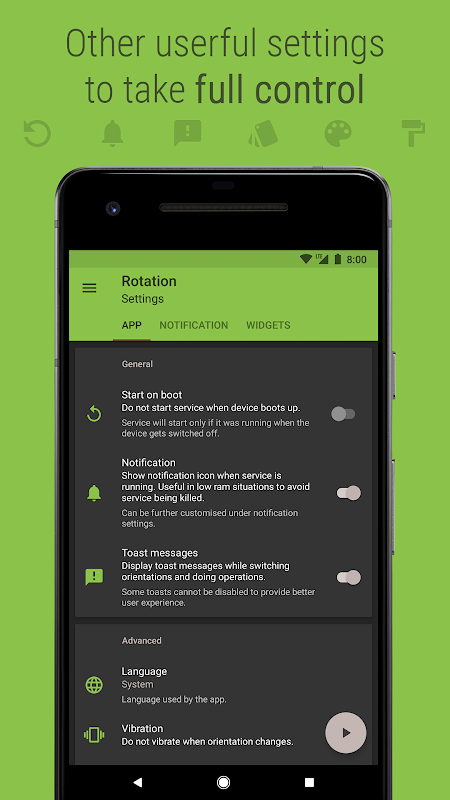 Android Rotation - Orientation Manager Screen 2