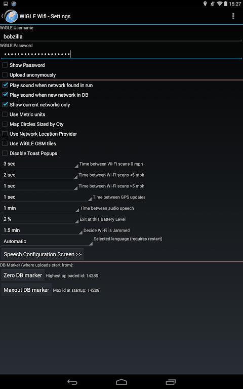 WiGLE WiFi Wardriving 2.39 Screen 12