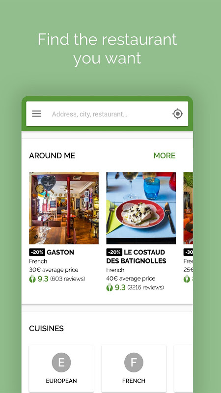 Android TheFork - Restaurants booking and special offers Screen 6