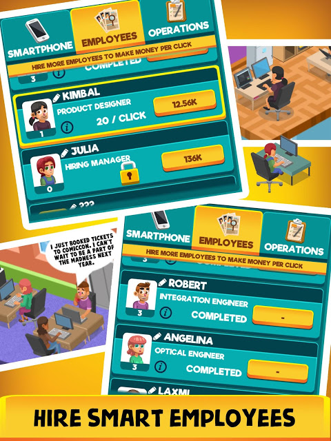 Android Idle Smartphone Tycoon - Phone Clicker & Tap Games Screen 1