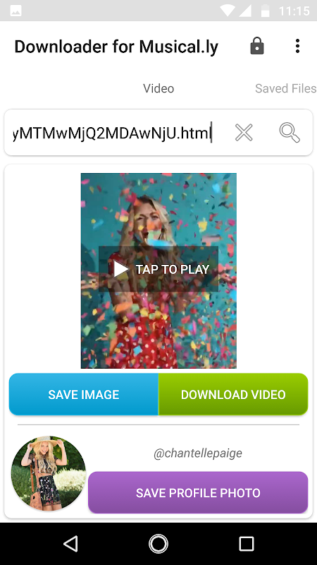 Downloader for Musical.ly 3.1 Screen 2