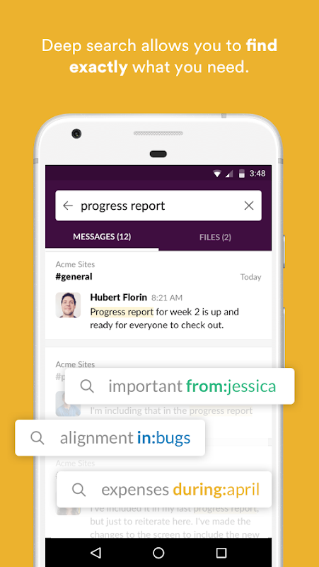 Android Slack Screen 2