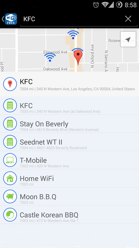 WiFi Free - Passwords&Hotspots 1.4.2 Screen 4