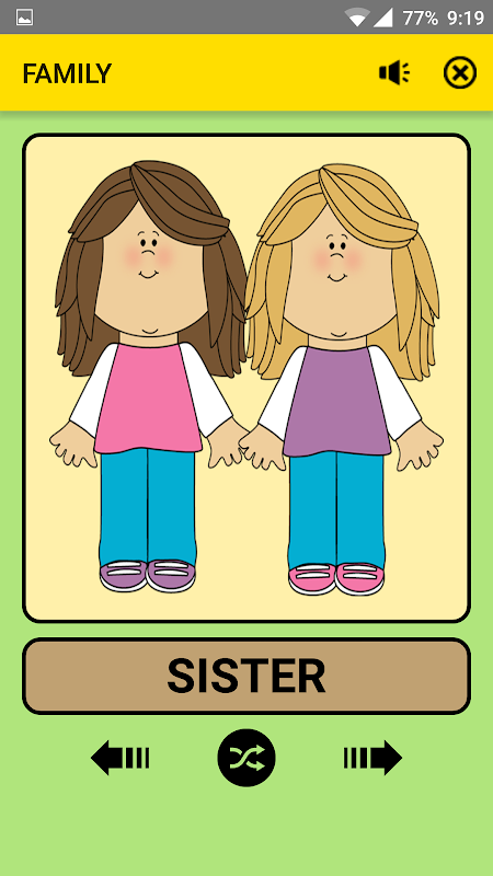 Android Family and Relations For Kids : Educational Game Screen 2
