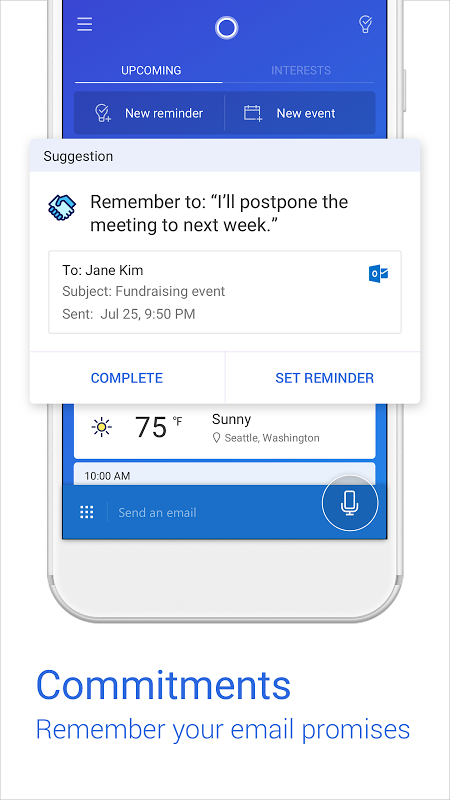 Android Cortana for Android (Unreleased) Screen 2
