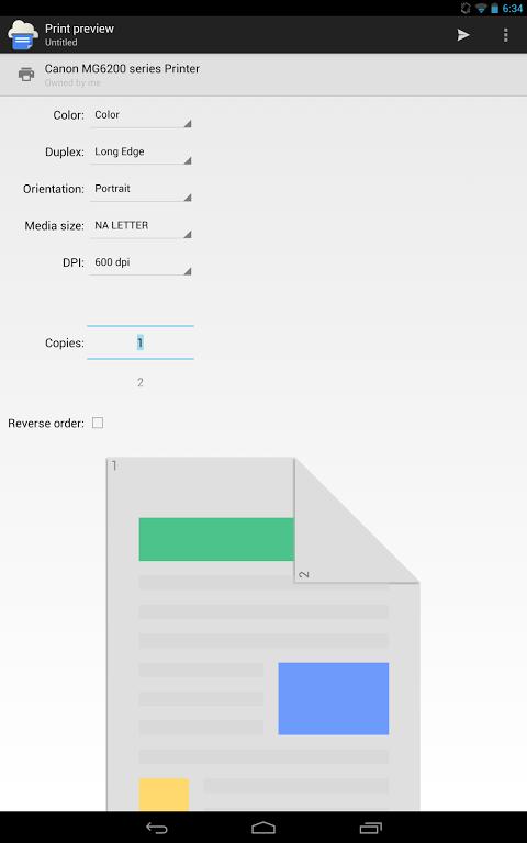 Cloud Print 0.9.2 Screen 1