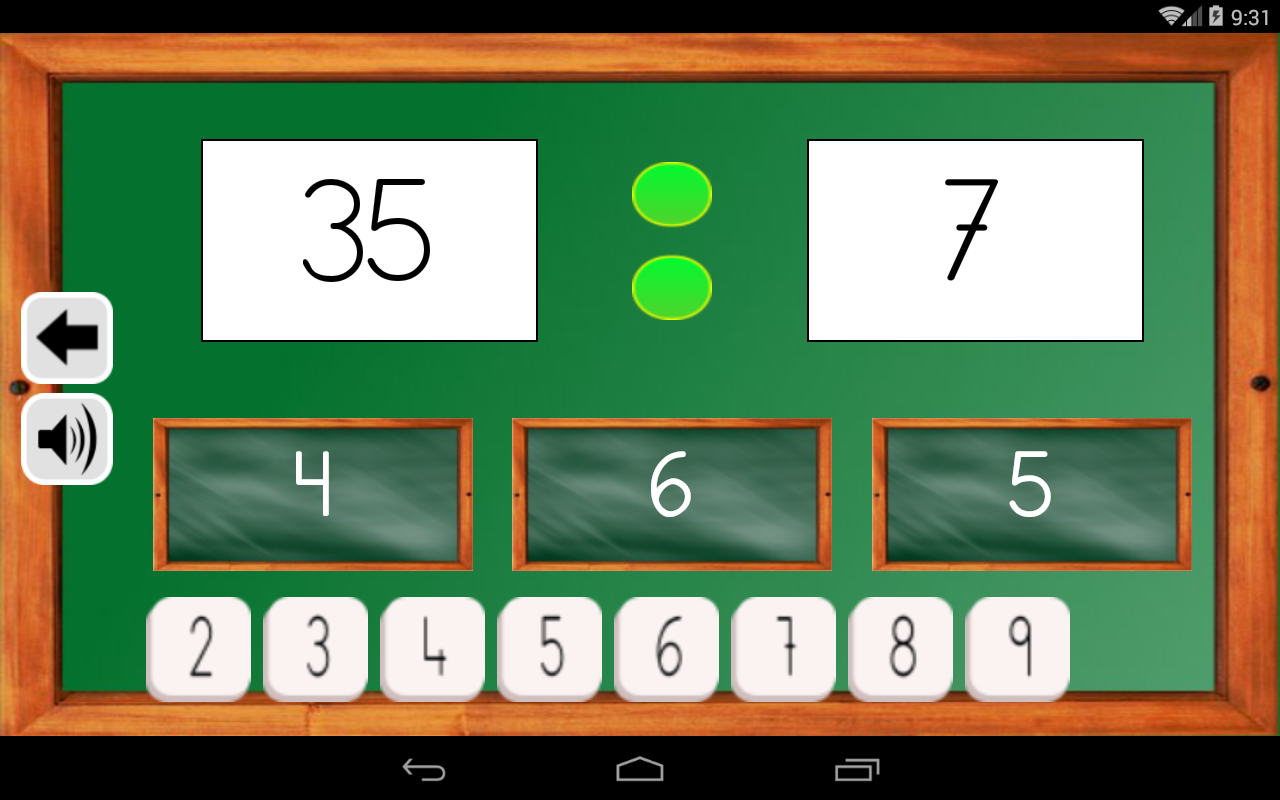 Android Maths Trainer Screen 14