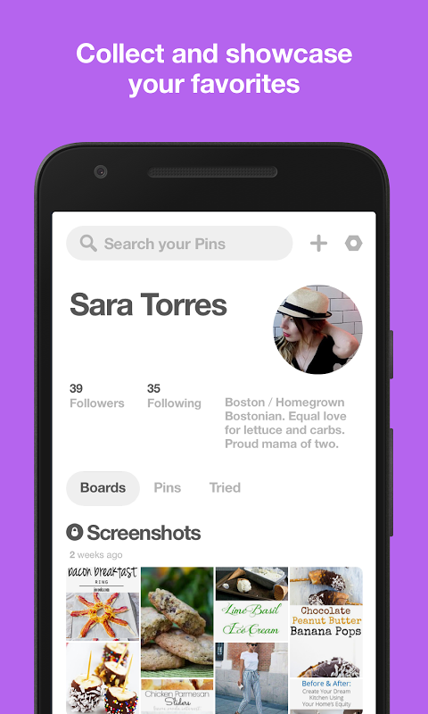 Android Pinterest Screen 3