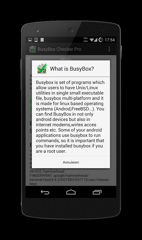 BusyBox Checker Pro 2.0 Screen 1