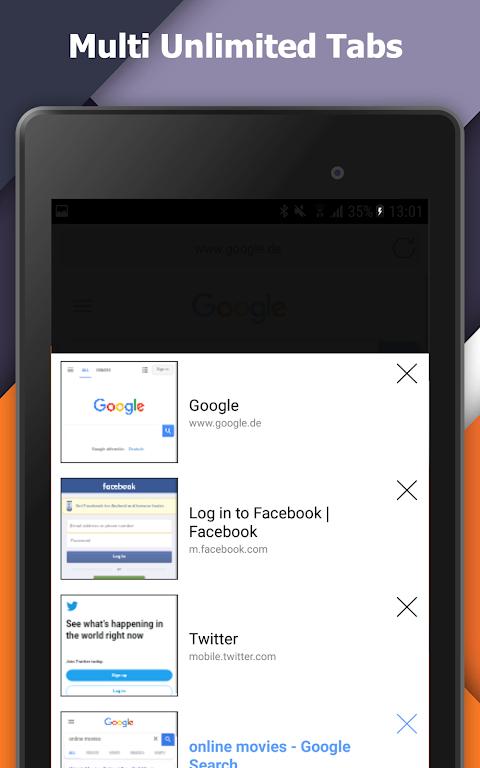 Incognito+ Pro fast private anonymous Browser 105 Screen 13
