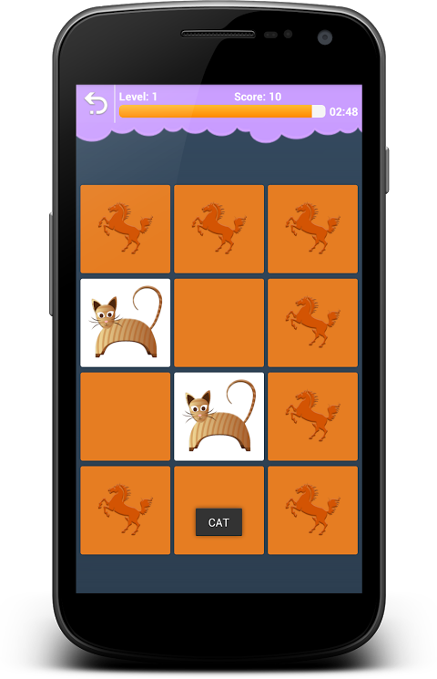 Android Animals Memory - Learn Animals Screen 7