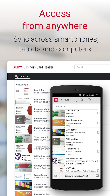 Business Card Reader Pro - Business Card Scanner 4.7.621 Screen 4