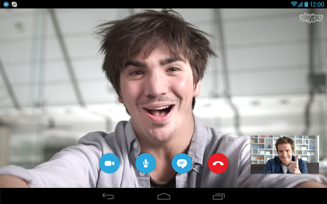 Android Skype Screen 7