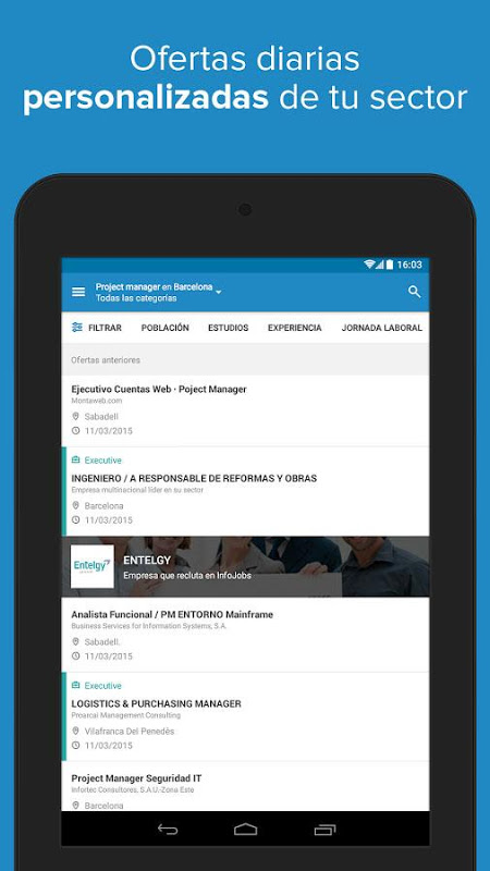 Android InfoJobs - Job Search Screen 18