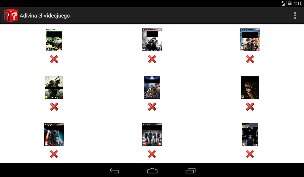 Android Guess the Game Screen 4