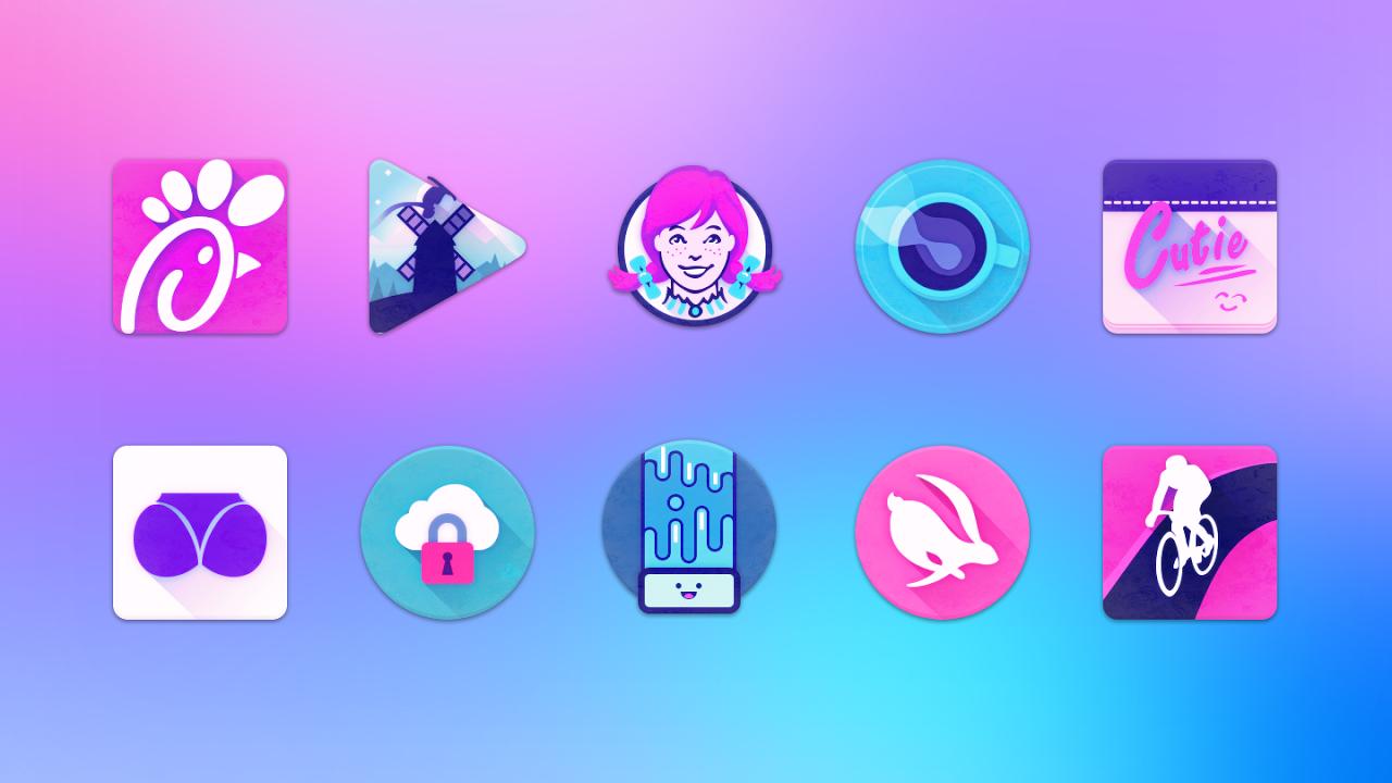 Unicorn Icon Pack 3.6 Screen 4