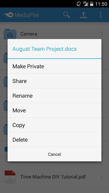 Android MediaFire Screen 11