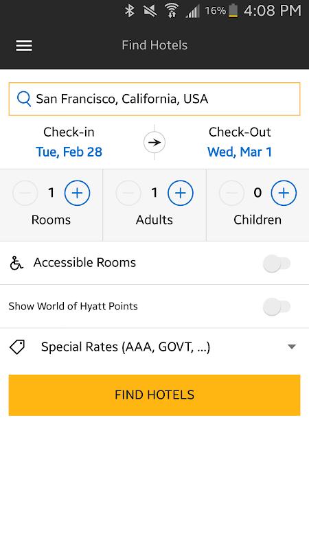 Hyatt Hotels 3.42.1 Screen 2