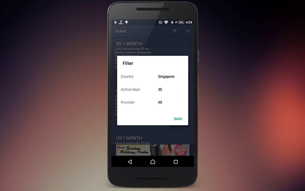Android SSH Finder Screen 1