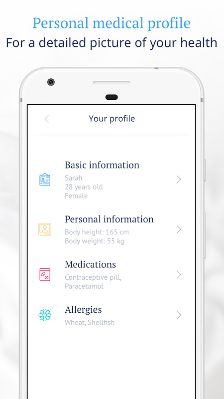 Ada Personal Health Companion 2.6.0 Screen 4