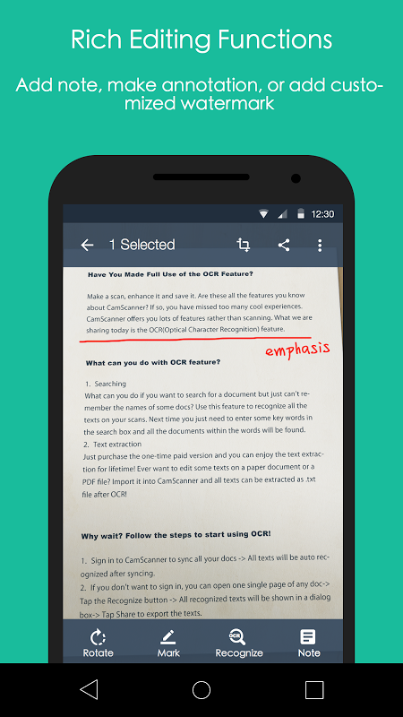 Android CamScanner -Phone PDF Creator Screen 3