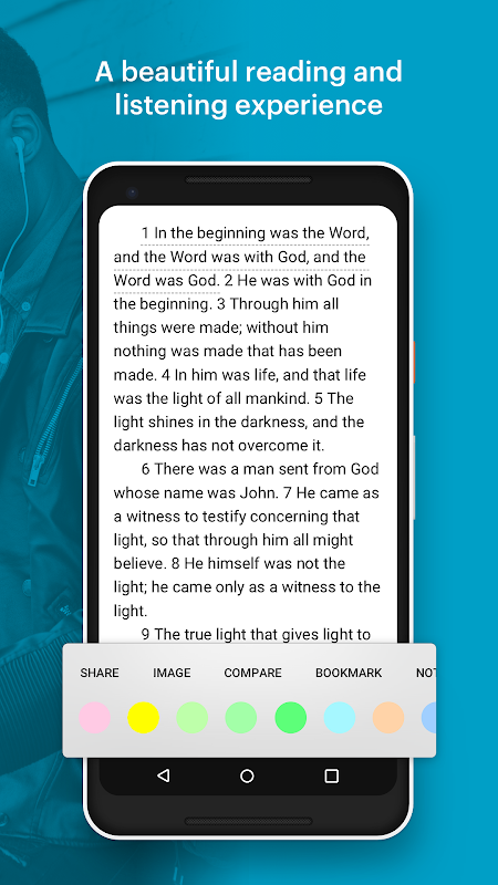 Android Bible: Daily Verse, Study, Audio and Devotions Screen 1