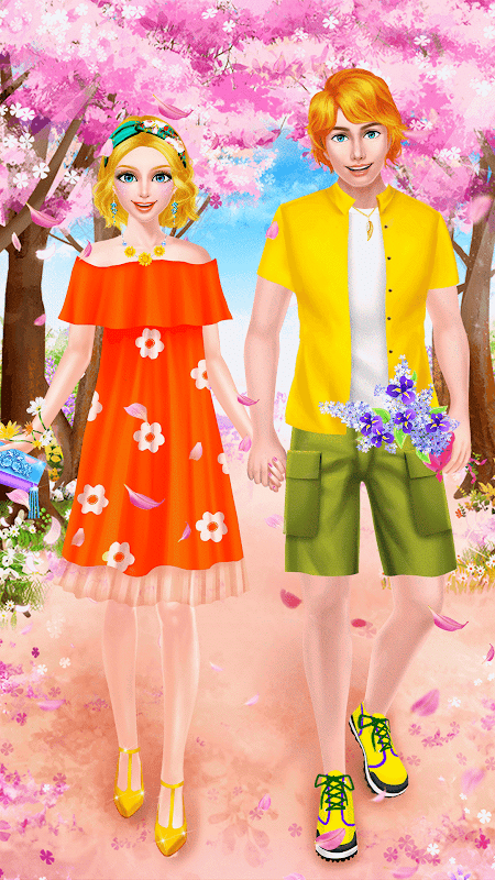 Android Spring Date Flower Spa & Salon Screen 1