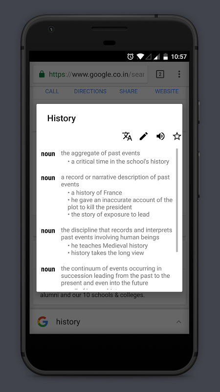 Android Look Up - A Pop Up Dictionary Screen 5