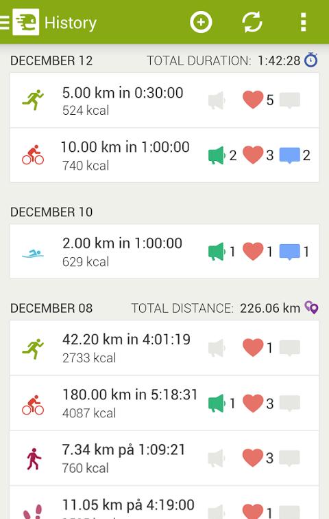 Android Endomondo Sports Tracker PRO Screen 11