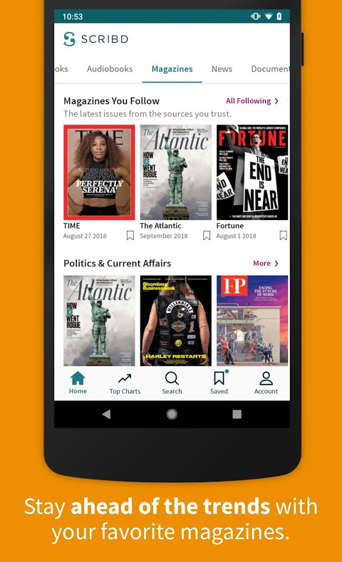 Scribd - Reading Subscription 8.12.1 Screen 2