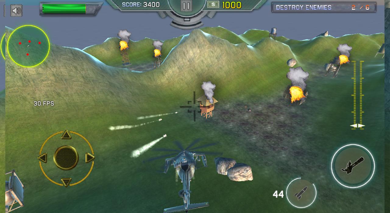 Heavy Gunship Helicopter War🚁 1.3 Screen 1
